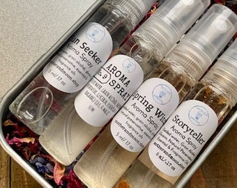 Scent Sampler Gift Idea, trial size perfume set, sample perfume body spray, travel size perfume