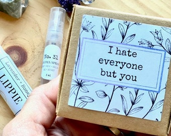 Friend Gift box, Congrats gift set, lip balm set, perfume gift set, birthday box gift set
