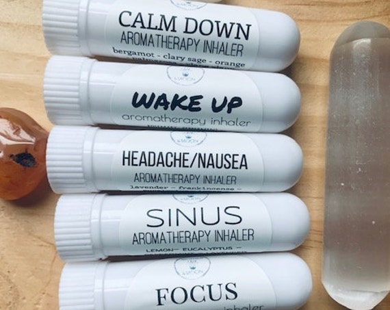 Aromatherapy Inhaler Set, 5 essential oil nasal inhaler kit, travel diffuser, Natural Products