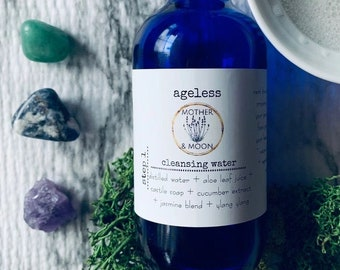 Ageless Cleansing Water, Mature Skin Care Face Cleanser, Natural Skin Care Facial Cleanser, Skin Face Treatment