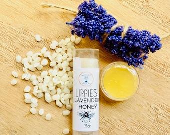 Lavender and Honey Lip Balm, Dry lip remedy, Nourishing Lip Balm, Gift Ideas