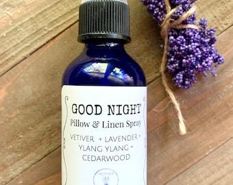 Sleep Essential Oil Spray, Good Night Spray, Bedtime Linen and Room Spray, Aromatherapy Pillow Mist, Insomnia Remedy
