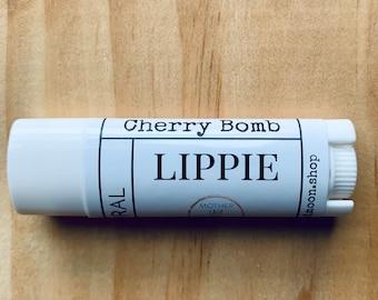 Cherry Lip Balm, Moisturizing Lip Balm, Nourishing Beeswax Chapstick, Natural Lip Balm