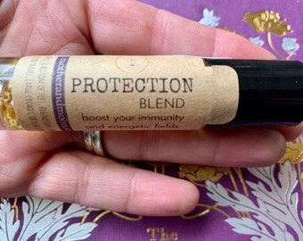 Protection Essential Oil Roller ball Blend, Negative Energy Oil, Cleansing energy blend, purify and purge negativity
