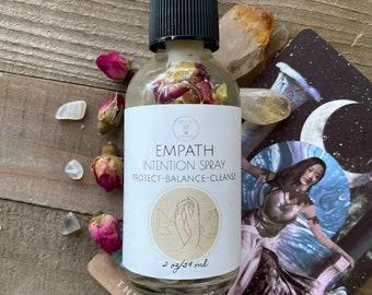 Empath Aroma Spray, Crystal Intention Spray, Body and room spray, aromatherapy spray mist, Natural smudge spray