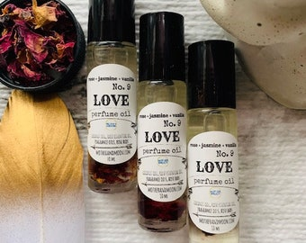 Botanical Natural Handmade Fragrance Roller Ball, Rose perfume scent, Love Potion Essential Oil Aromatherapy Fragrance