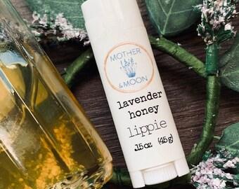 Moisturizing Lavender and Honey Lip Balm, Natural Beeswax Nourishing Lip Balm, Chapped lip remedy