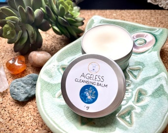 Dry Skin Solid Cleansing Balm, Aging Mature skin, Ageless Cleansing Balm, travel face cleanser, Simple Natural Skin Care