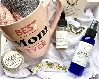 Mom Aromatherapy Spa gift box, Personalized Mother gift set, Mom mug gift set, Perfume gift box for mom