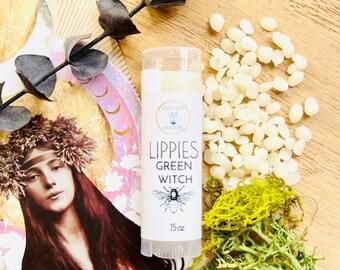 Nourishing Lip Balm, Dry lip remedy, Green Witch Flavor Lip Balm, Natural lip moisturizer