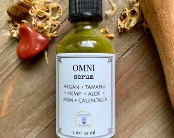 Anti-Aging and Wrinkle Face Serum, Tamanu Oil, Omni, Nourishing Skin Care, Mature Skin Care Product, Lifting Face Oil