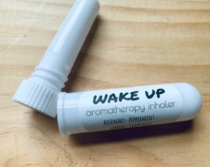 Natural Aromatherapy Energy Inhaler, Essential Oil Happy Blend, Wake up nasal inhaler