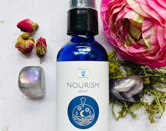 Natural skin face oil, Nourish Elixir, anti-aging face oil, dry skin face moisturizer, wrinkle face serum