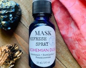 Face Mask Spray, Aromatherapy Mask mist, Bohemian scent, Refreshing Spray, Mask Deodorizer, Cloth Freshener