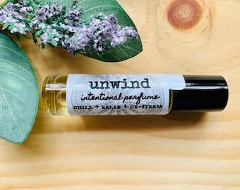 Aromatherapy Essential Oil Relax Blend, De-stress wellness roller ball, chill out perfume blend