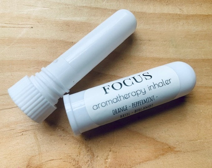 Focus Aromatherapy Inhaler Blend, Attention Essential Oil Remedy, Natural clear mind relief