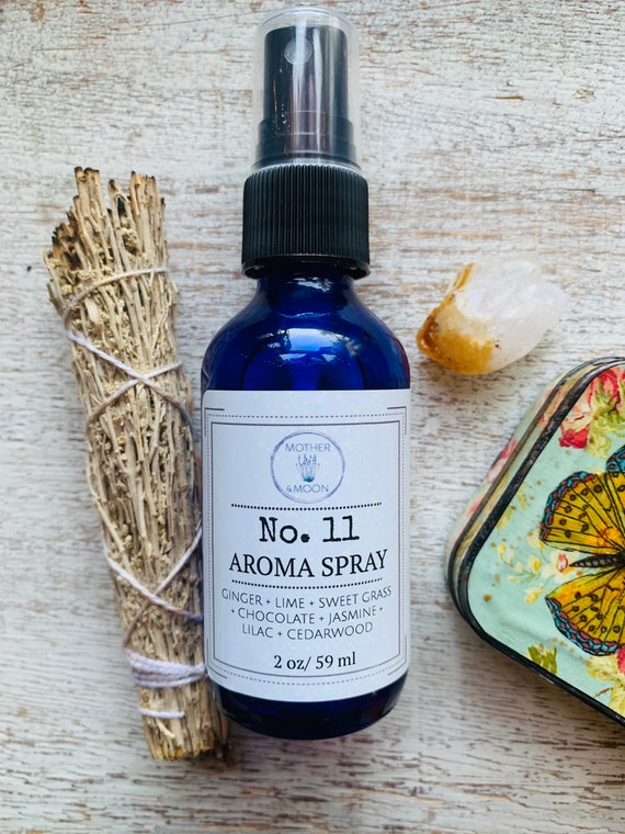 Natural Spring Fragrance Perfume Mist, #11 Aromatherapy Body Mist Floral Scent, Ginger Lime Body Spray
