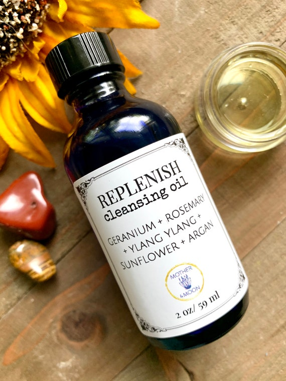 Dry skin cleanser, daily cleanser, Replenish Cleansing Oil, botanical skin care, Oil cleansing method, natural face wash