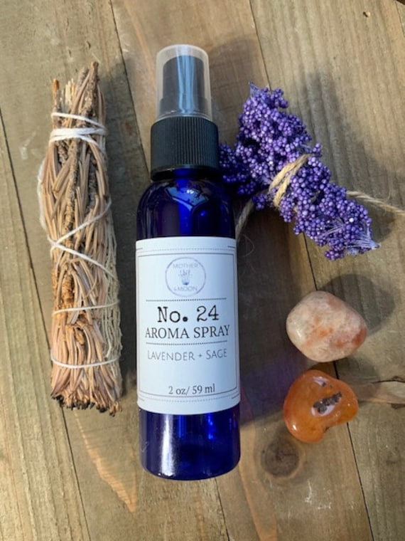 Lavender and Sage Scent, natural perfume spray, body mist