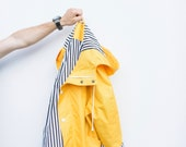Yellow raincoat for men Mens rain jacket Gift for him Present for boyfried Yellow mac for man Unique gifts for men Personalised jacket