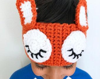 Crochet Fox Ear Warmer, Fox Ear Warmer Headband, Crochet Ear Warmer for Kids, Fox Crochet Headband, Baby Shower Gift, Stocking Stuffers