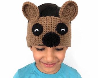 Crochet Bear Ear Warmer, Bear Ear Warmer Headband, Crochet Ear Warmer for Kids, Bear Crochet Headband, Baby Gift, Stocking Stuffers