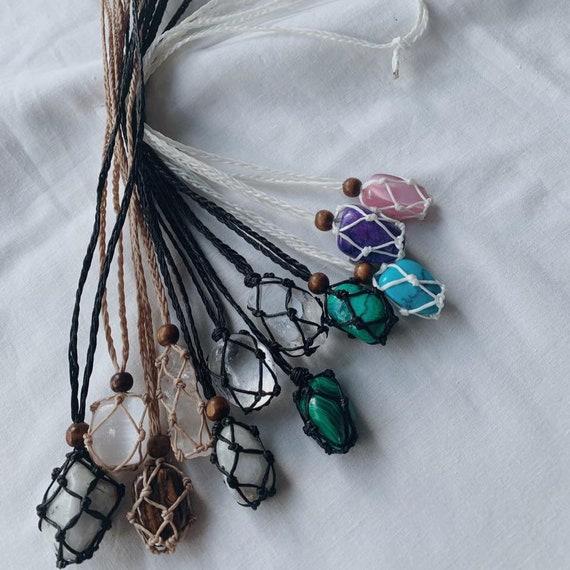 Macrame Crystal Necklace