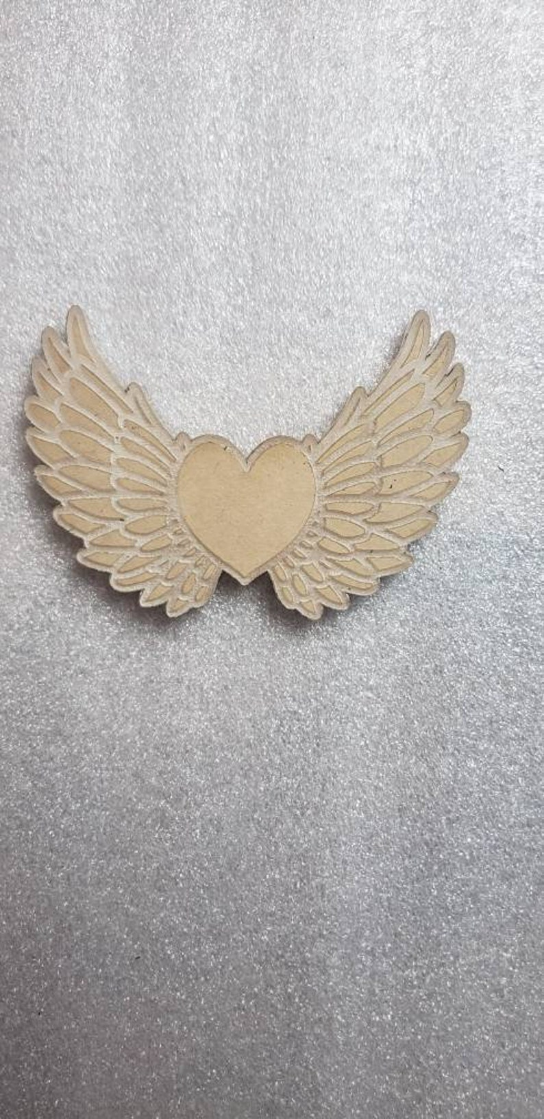 6 Winged Heart Acrylic Blank for Silicone Molds Acrylic Painting Candy Molds