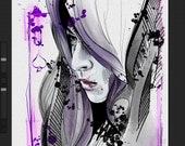 Printing Digital Watercolor illustration