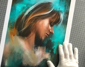 Fine Art Print, Digital Art Portrait