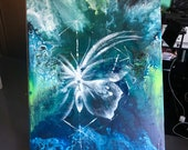 Original Acrylic Abstract Painting - Butterfly