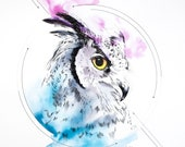 Owl digital painting - direct download