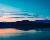 Fine Art Print, Nature Landscape Sunset Lake