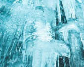 Fine Art Print, Nature Landscape Mountain Ice Waterfall