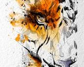 tiger: watercolor digital artwork