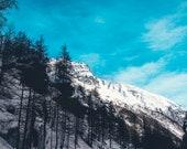 Fine Art Print, Nature Landscape Snow Mountain