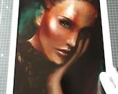 Fine Art Print, Digital Painting Portrait