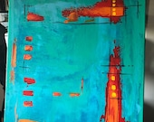 Original Abstract Actylic Painting on Canvas