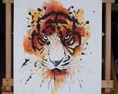 ORIGINAL Watercolor Panting Tiger