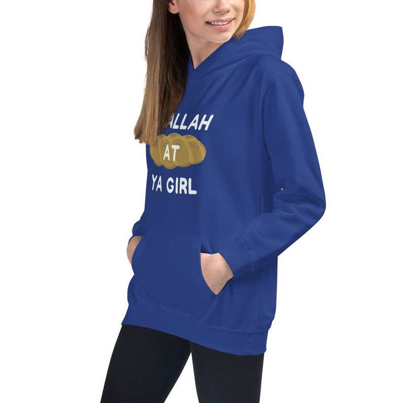 CHALLAH at YA GIRL Jewish Girl/'s Hoodie challah Jewish Hanukkah sweater Jewish gift Hanukkah gift Jewish Girl