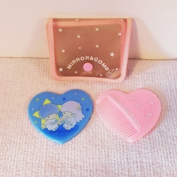 Little twin vintage stars comb and mirror pouch