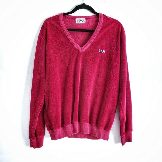 Vintage 70s/80s The Fox Velour Sweater Sweatshirt