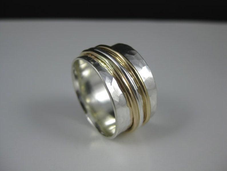 meditation ring silver fidget ring silver Thumb ring promise ring 925 silver ring silver spinner ring anxiety ring
