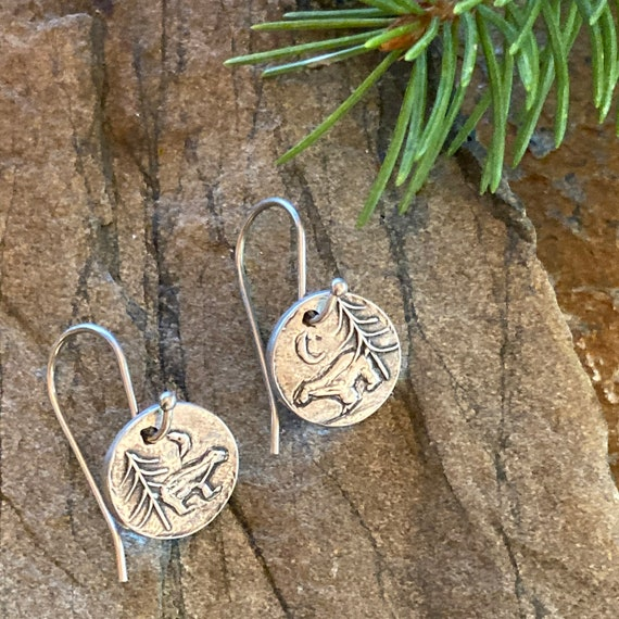 PMC hand-crafted earrings by Cindy Bina nature-inspired Lapis Lazuli river fine silver