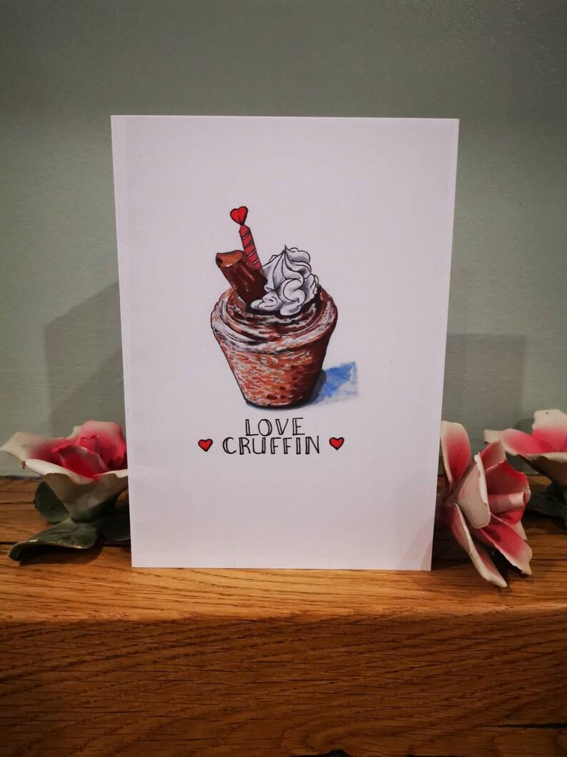 cruffin card Foodie valentines card love cruffin card
