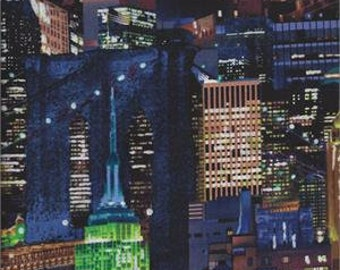Timeless Treasures ~ Night City Skylines Sketch ~ 100/% Cotton Quilt Fabric BTY