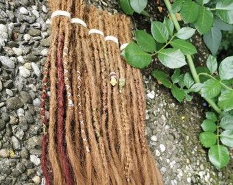 SE / DE human hair dreads, braiding in, braiding, color as desired