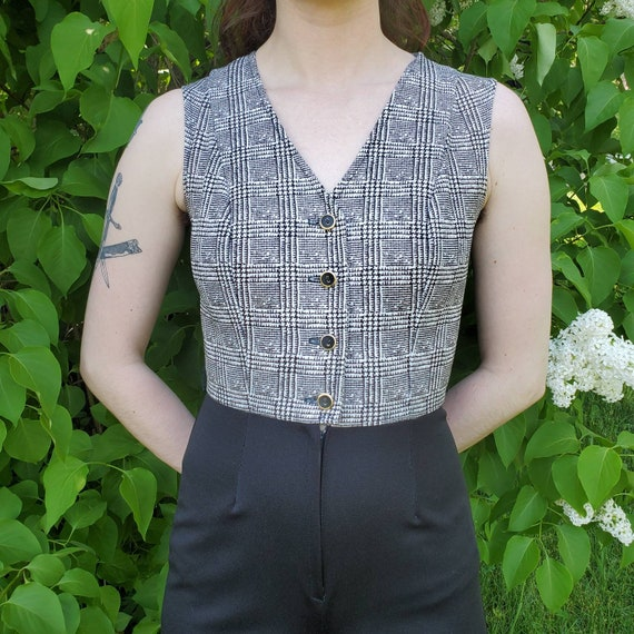 1970s black and white jumpsuit - image 5