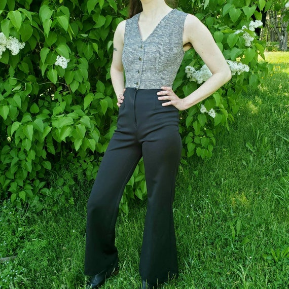 1970s black and white jumpsuit - image 2