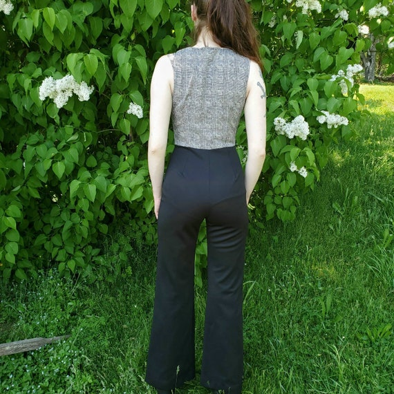 1970s black and white jumpsuit - image 3